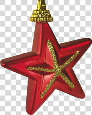 Christmas Ornament Star Toy - Gold Stars New Year Picture Material PNG
