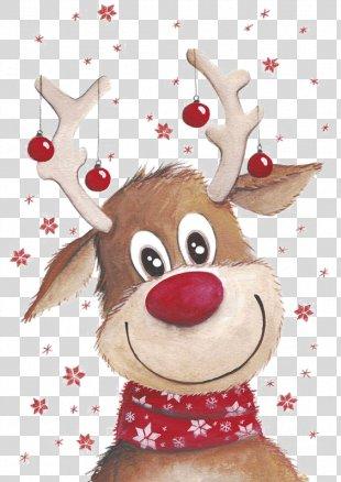 Rudolph Santa Claus's Reindeer Santa Claus's Reindeer Clip Art - Christmas Deer PNG