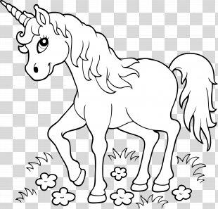 Unicorn Coloring Book Page Child - Unicorn PNG
