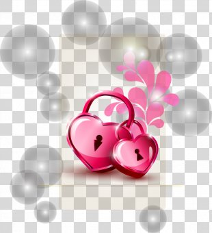 Valentine's Day Heart Illustration - Romantic Valentine's Day Heart Glow PNG