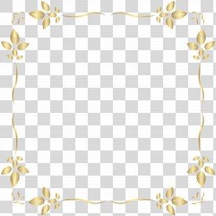 Clip Art - Golden Border Frame Clip Art PNG