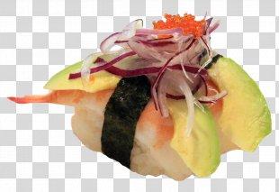 Sushi Garnish Dish Avocado Recipe - Sushi PNG