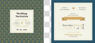 Wedding Invitation Paper Convite - Cartoon Wedding Invitation Design PNG