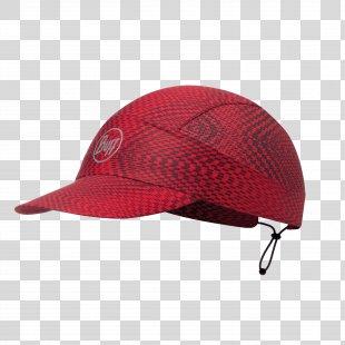 Cap Buff Clothing Running Red - Cap PNG