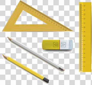 Ruler Pencil Eraser - Triangle Ruler Pencil Eraser PNG