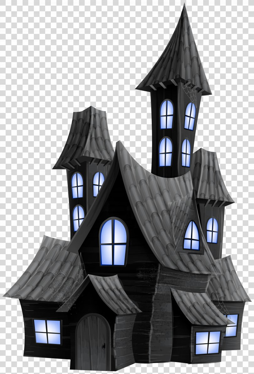 Halloween Ghost Clip Art, Halloween Scary House Transparent Image PNG
