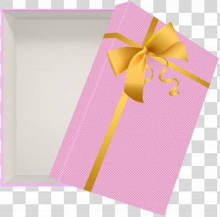 Gift Paper Clip Art - Open Gift Box Pink Clip Art Image PNG