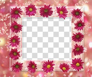 Borders And Frames Picture Frames Flower Clip Art - Abstract Floral Frame PNG