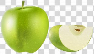Granny Smith Apple Fruit Clip Art - Green Apple Transparent Clip Art Image PNG