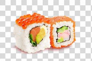 Sushi Makizushi Pizza California Roll Japanese Cuisine - Sushi PNG