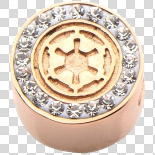 Gold Metal Star Wars Body Jewellery Galactic Empire - Gold PNG