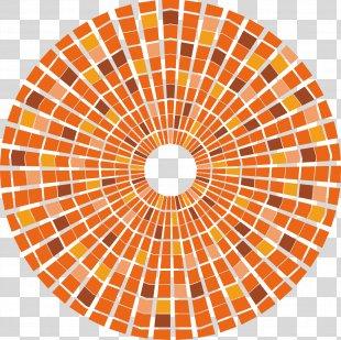Safari Web Browser Apple Icon - Orange Symmetrical Circular Pattern PNG