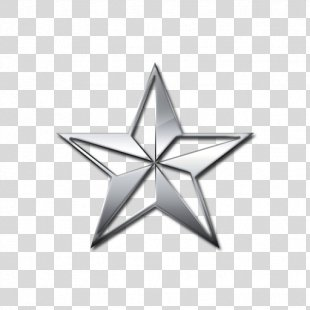 Star 3D Computer Graphics Metal Silver - Star PNG