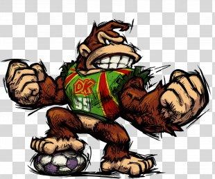 Donkey Kong Jr. Mario Strikers Charged Super Mario Strikers - Donkey PNG