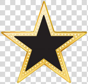 Gold Blackstar Clip Art - Star Cliparts Transparent PNG