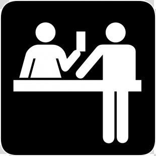 Desk Front Office Receptionist Clip Art - Desk Silhouette Cliparts PNG