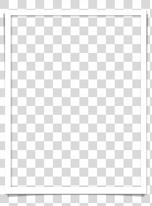 Black And White Material - White Frame PNG