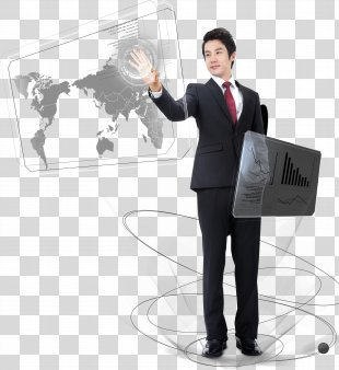 Finger Download Computer File - Finger-touch Business Man PNG