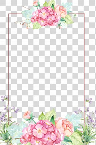 Flower Clip Art - Beautiful Flower Borders PNG