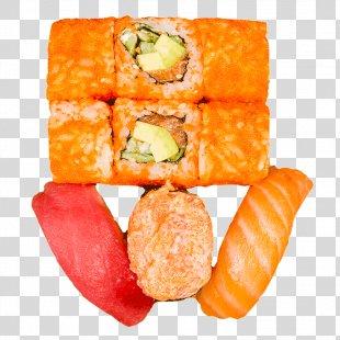 California Roll Sushi Makizushi Vegetarian Cuisine Fast Food - Sushi PNG