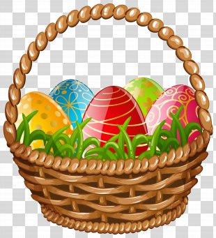 Egg In The Basket Easter Egg - Easter Egg Basket Clip Art Image PNG