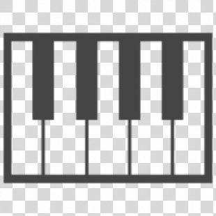 Piano Musical Keyboard Line Angle Font - Piano PNG