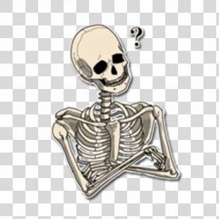 Skeleton Sticker Telegram Bone VKontakte - Skeleton PNG