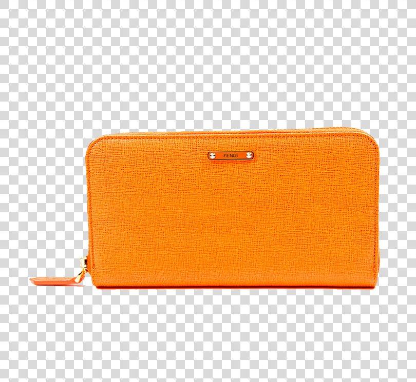 Wallet Coin Purse Yellow, Ms. Fendi Fendi Purse Orange PNG