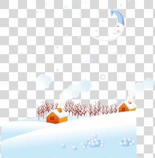 Daxue Winter Euclidean Vector - Vector Winter Snow House PNG