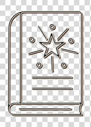 Books Icon - Rectangle Line Art PNG