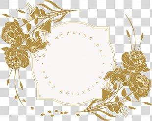 Wedding Invitation Flower Floral Design - Wedding Invitation Card PNG