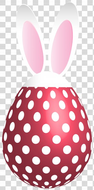 Polka Dot Stock Photography Clip Art - Easter Dotted Bunny Egg Red Transparent Clip Art PNG