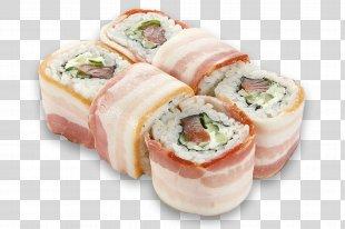 Makizushi Sushi Bacon California Roll Japanese Cuisine - Sushi PNG