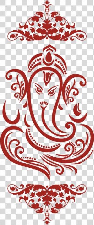 Ganesha Wedding Invitation Clip Art - Wedding Card PNG