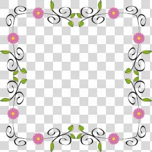 Flower Clip Art - Floral Border PNG