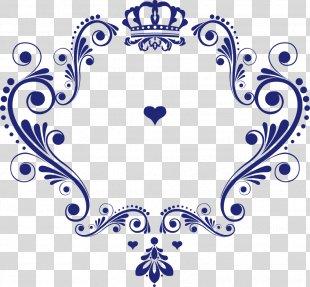 Logo Wedding - Crown Pattern Vector Love Logo PNG