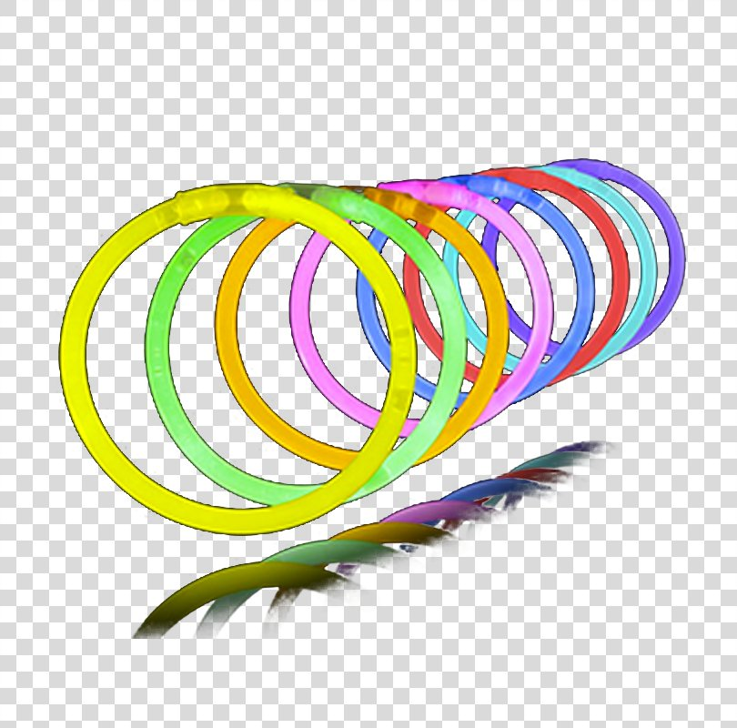 Glow Stick Bracelet Party Necklace Feather, Fire Glow PNG