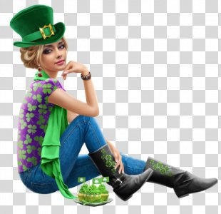 Saint Patrick's Day 17 March Woman - Saint Patrick's Day PNG