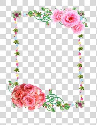 Paper Borders And Frames Flower Rose Clip Art - Flower Border PNG