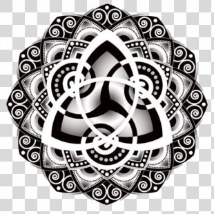 Celtic Knot Triquetra Tattoo Mandala Drawing - Symbol PNG