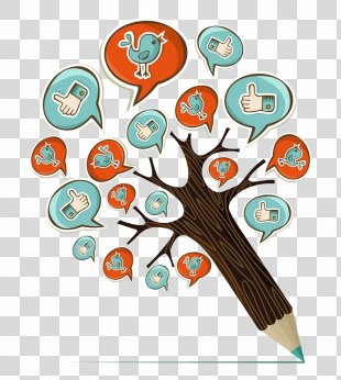 Pencil Drawing Illustration - Creative Pencil Tree PNG