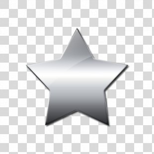 Silver Drawing Clip Art - Silver Star Cliparts PNG