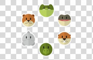 Turtle Animal Illustration - Vector Cute Animal Heads PNG