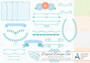 Paper Wedding Invitation Baby Shower Clip Art - Baby Shower Border Paper PNG