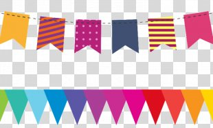 Birthday Cake Happy Birthday To You Bunting Greeting & Note Cards - Festa Junina Vector PNG