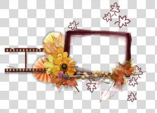 Floral Design Cut Flowers Artificial Flower Picture Frames - Flower PNG