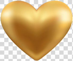 Gold Clip Art - Gold Heart Transparent Clip Art PNG