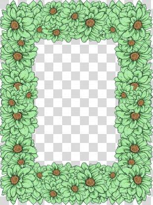 Floral Design Color Flower Picture Frames Data - Original Flowers PNG
