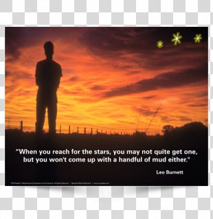 When You Reach For The Stars You May Not Quite Get One, But You Won't Come Up With A Handful Of Mud Either. Advertising Poster Design Image - StarS Watercolor PNG