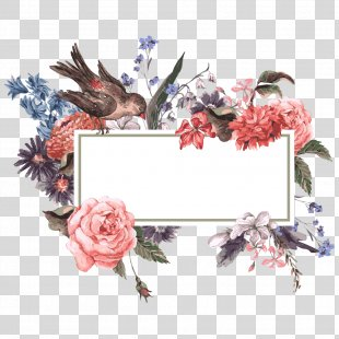 Flower Wedding Invitation Stock Photography Illustration - Flowers And Birds PNG